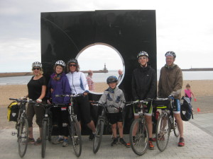 Completing the Coast to Coast bike ride August 2015